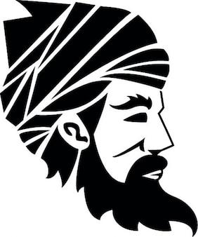 Arabischer mann mit turban