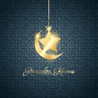 Arabischer musterhintergrund für gruß von ramadan kareem
