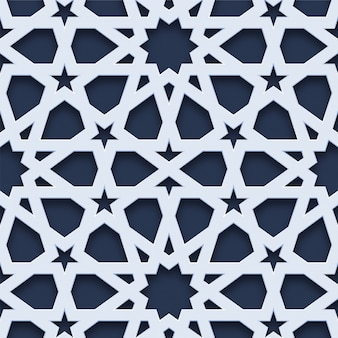 Arabischer stil des geometrischen nahtlosen musters 3d
