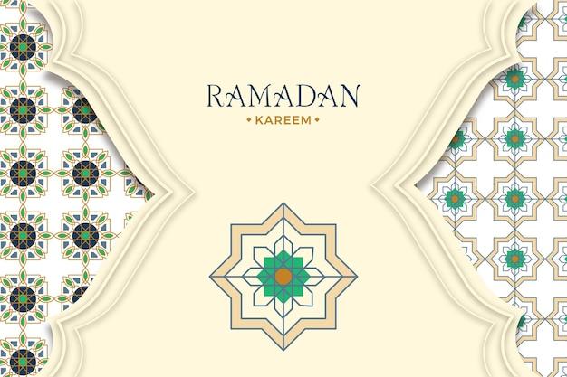 Arabischer zierhintergrund im papierstil