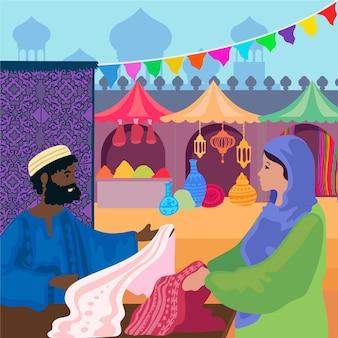 Arabisches basarkonzept
