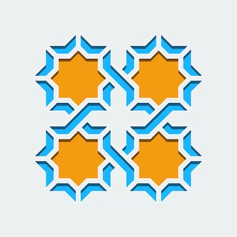 Arabisches geometrisches abstraktes kunst-dekomosaik-nahtloses muster