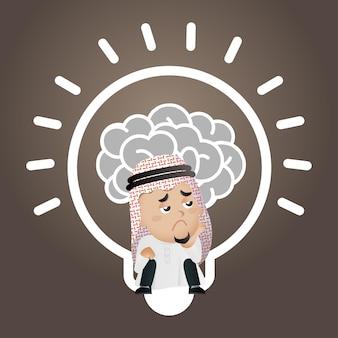 Arabisches geschäftskonzept