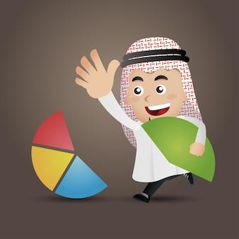 Arabisches geschäftskonzept Premium Vektoren