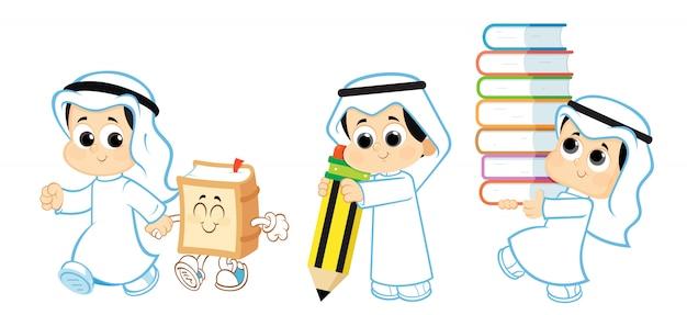 Arabisches kind, zurück zur schule