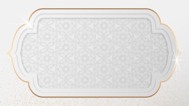 Arabisches muster in einem glänzenden goldrahmen