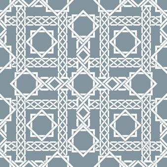 Arabisches nahtloses muster mit sich kreuzenden streifen, islamisches linienmuster. dekor arabisch, nahtloses muster, islamisches muster asiatisch, vektorillustration