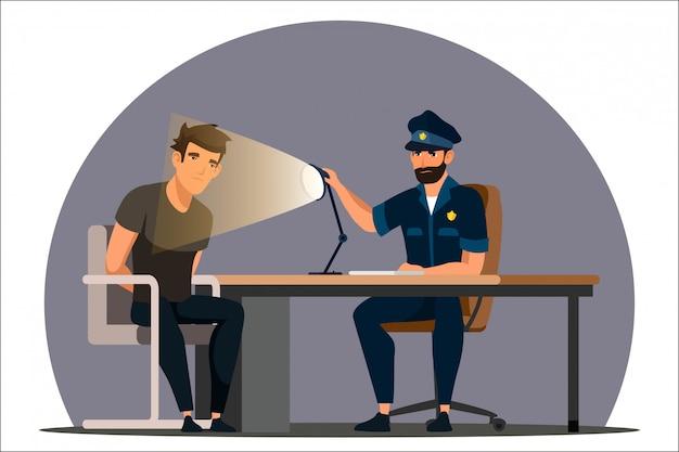 Arbeit der polizeiabteilung illustration