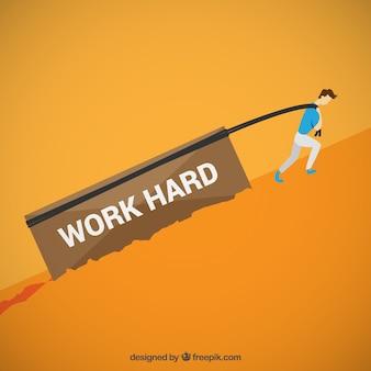 Arbeite hart konzept