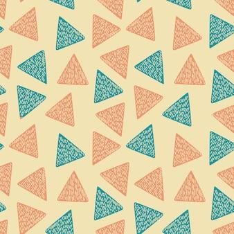 Arbeiten sie abstraktes dreieck mit mehrfarbenmuster um