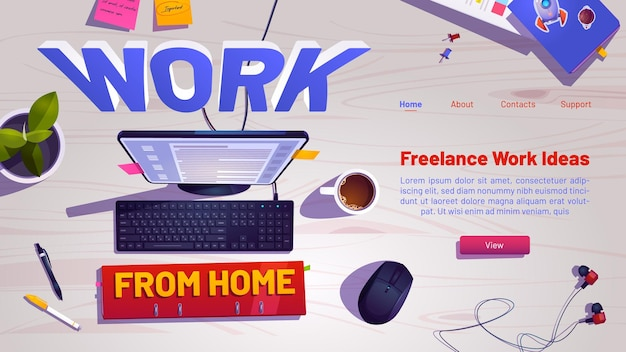 Arbeiten sie von zu hause aus web-banner