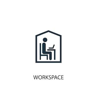 Arbeitsbereich-symbol. einfache elementabbildung. arbeitsplatzkonzept symboldesign. kann für web und mobile verwendet werden.