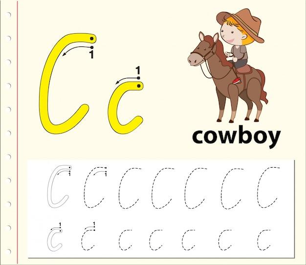 Arbeitsblätter für buchstaben-c-tracing-alphabete