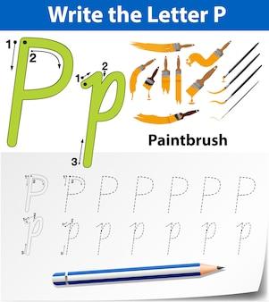 Arbeitsblätter für buchstaben-p-alphabet