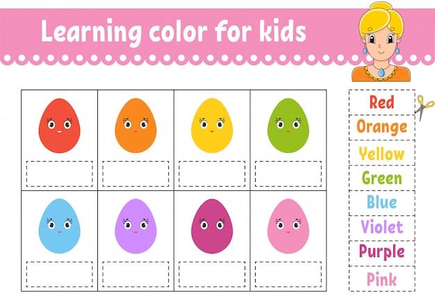 Arbeitsblatt farben lernen