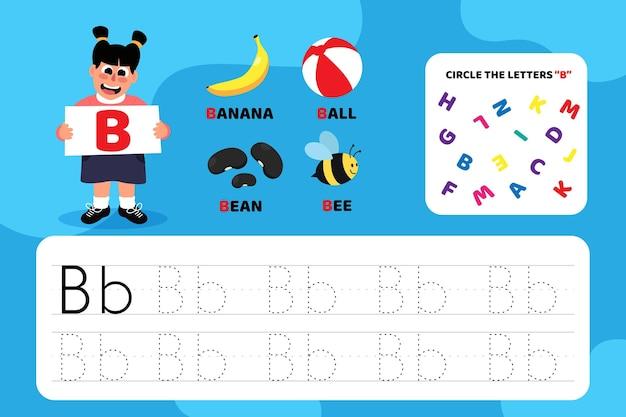 Arbeitsblatt für bildungsbrief b mit abbildungen