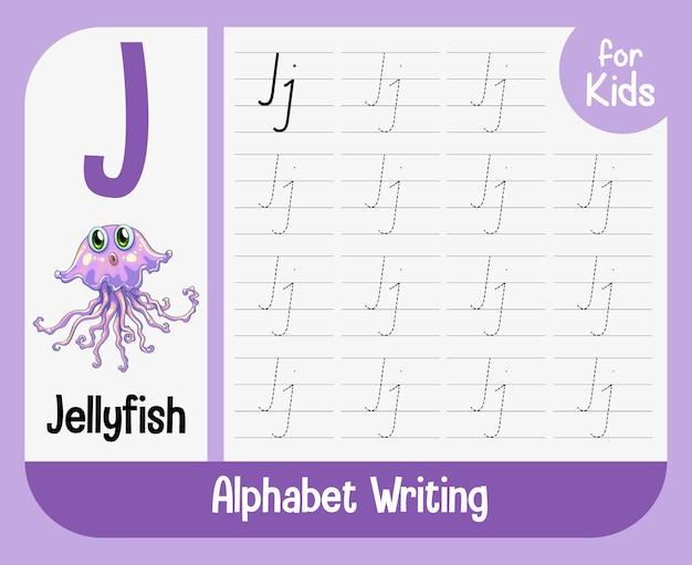 Arbeitsblatt zur alphabetverfolgung mit buchstaben und vokabeln