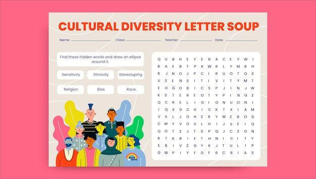 Arbeitsblatt zur kreativen kulturellen vielfalt