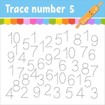 Arbeitsblatt zur verfolgung der trace-nummer