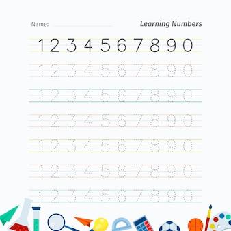 Arbeitsblatt zur verfolgung kreativer nummern