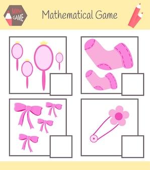 Arbeitsbuch über mathematik. lerne zu zählen. lösen sie beispiele.