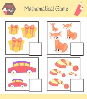 Arbeitsbuch zur mathematik für die vorschulerziehung. puzzles für kinder.