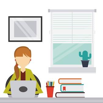 Arbeitsdesign der Leute, Grafik der Vektorillustration eps10