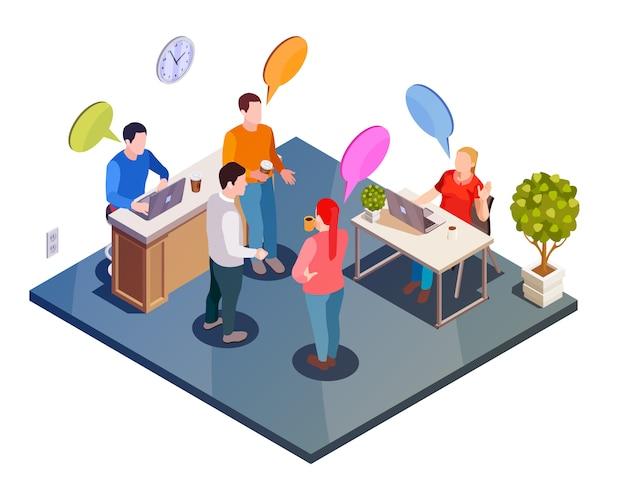 Arbeitsgespräch isometrische zusammensetzung