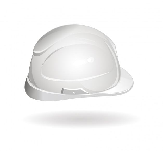 Arbeitshelm seitenansicht. schutzhelm-symbol.