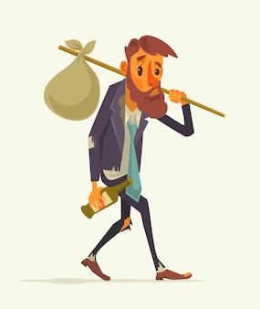 Arbeitsloser büroangestellter charakter