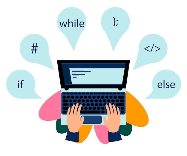 Arbeitsplatz der programmierung