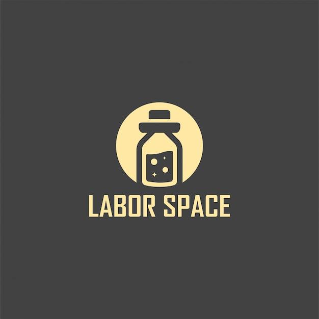 Arbeitsraum logo vorlage design. illustration. abstrakte laborwebsymbole und -logo. Premium Vektoren