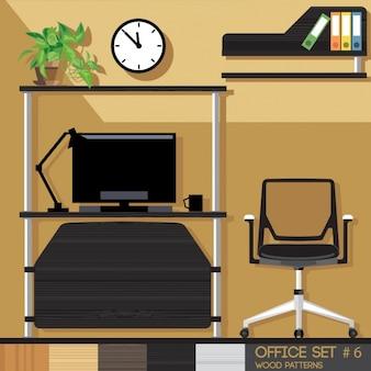 Arbeitsraum mit bürostuhl