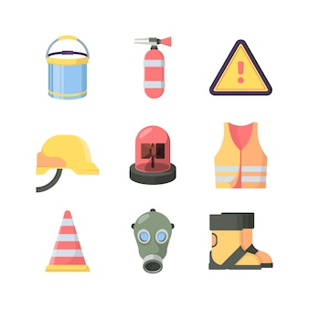 Arbeitsschutzwerkzeuge eingestellt