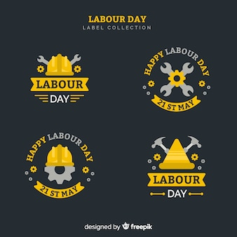 Arbeitstag abzeichen sammlung