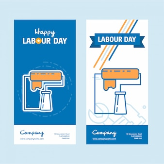 Arbeitstag web banner vorlage