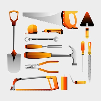 Arbeitstages-set-illustrationen