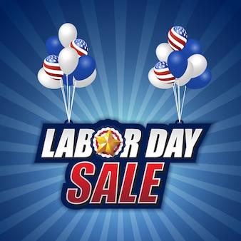 Arbeitstagesverkauf Hintergrund Ballon Design
