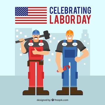 Arbeitstageszusammensetzung mit Bauarbeiter