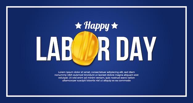 Arbeitstagschablone mit gelbem schutzhelm 3d