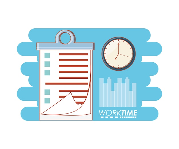 Arbeitszeit-elemente-symbole