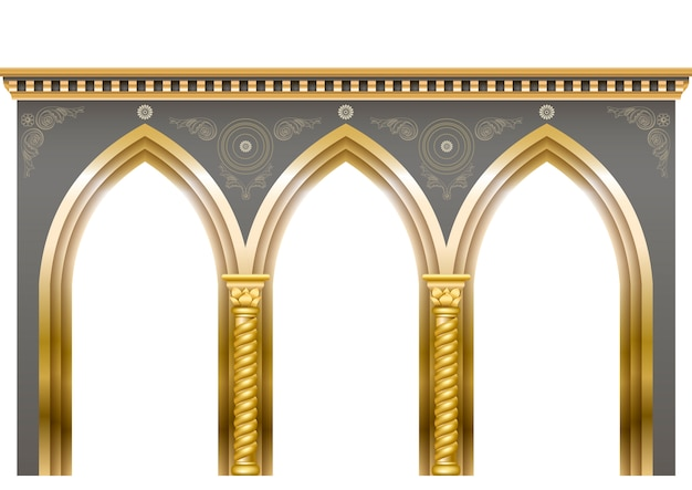 Arcade im orientalischen stil