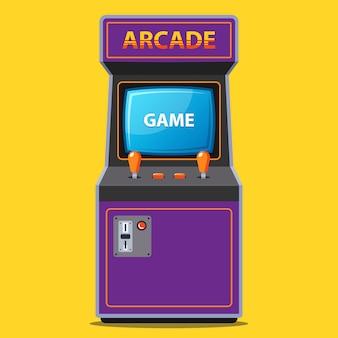 Arcade-spielautomat im retro-stil der 80er jahre