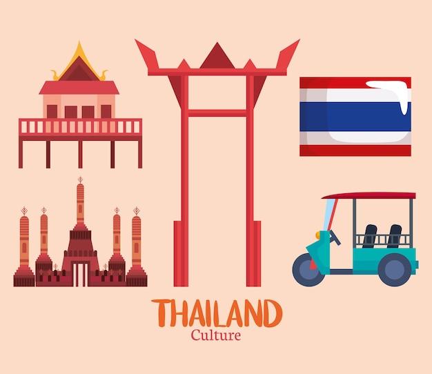 Arch- und thailand-ikonen