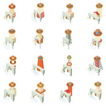 Arche leuchtturm-icon-set