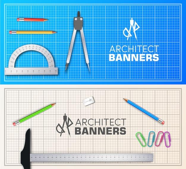 Architekt holztischprojekt mit professionellem ausrüstungshintergrundkonzept