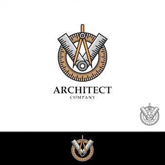 Architekt logo vector illustration