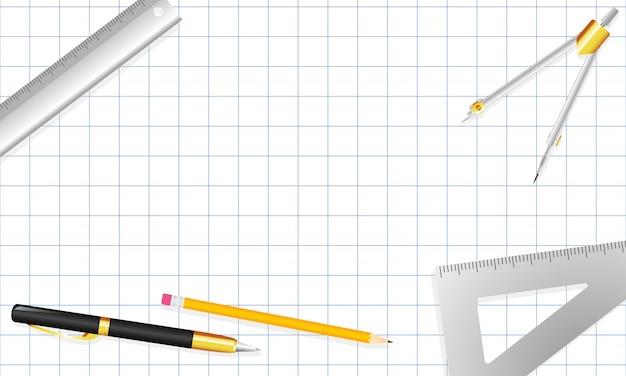 Architektenbriefpapierhintergrund-vektorillustration.
