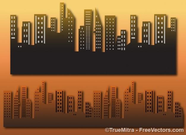 Architektonischen gebäude der stadt