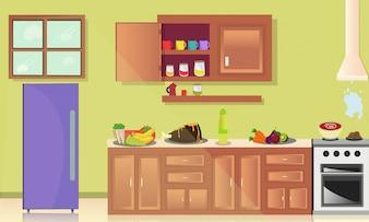 Architektur der Kücheninnenarchitektur